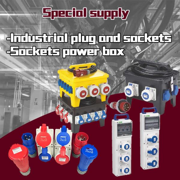 Industrial plug and socket series